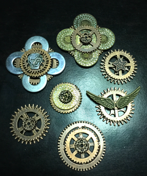 2015-09-11 - Steampunk Pins
